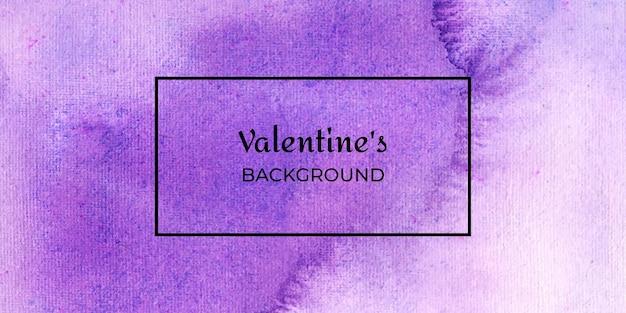 바이올렛 발렌타인 수채화 웹 배너 배경 모음