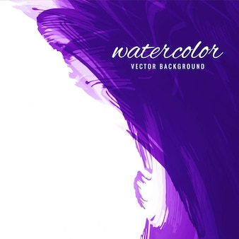 Violet watercolor background in abstract style