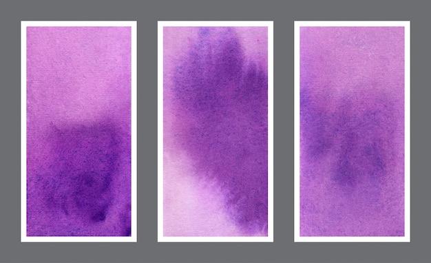 Набор фиолетовый веб-баннер акварельный фон