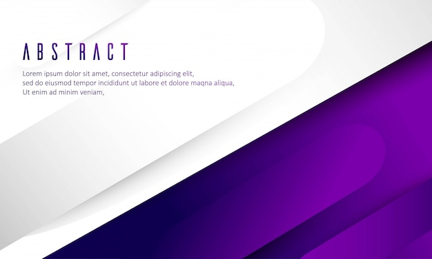 Violet and white gradient abstract background templates