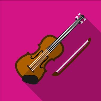 Violin flat icon illustration isolated vector sign symbol