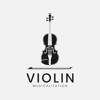 바이올린 악기 로고