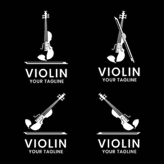 바이올린 로고 컬렉션 디자인