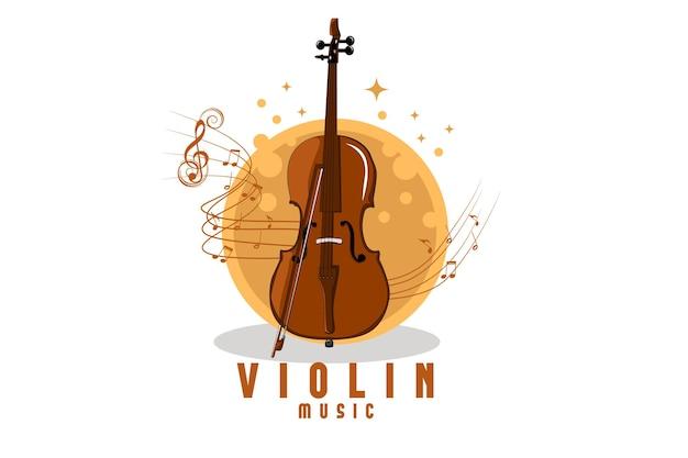 Violin music illustration design