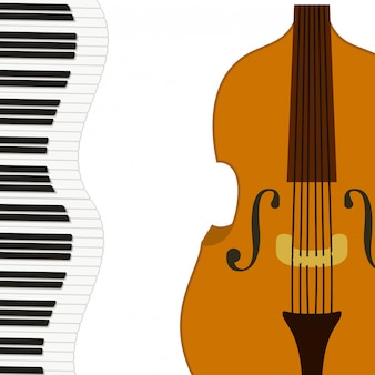 Violin musical instrument pattern