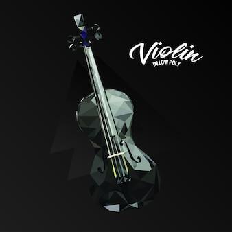 低ポリゴンのヴァイオリン