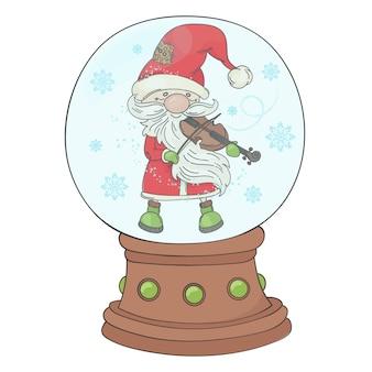 Violin santa circle  musician
