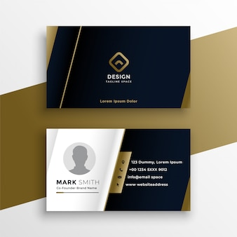 Vip business card in dark theme template
