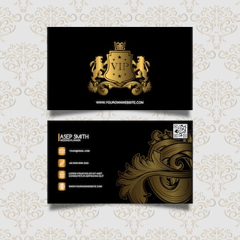 Vip business card design