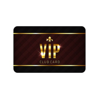 Vip card template, isolated on white background.
