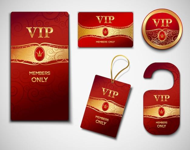 Vip cards design template