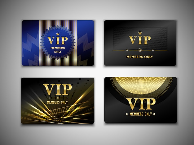 Vip cards template