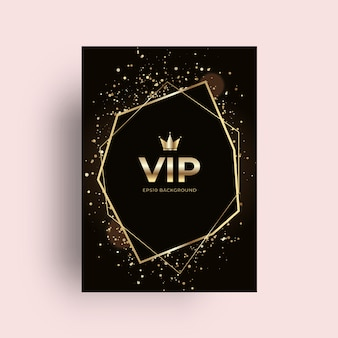 Vip golden card background
