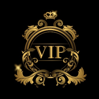 Vip golden logo