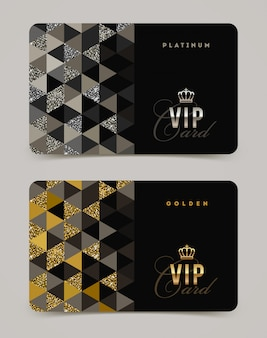Vip golden and platinum card template.