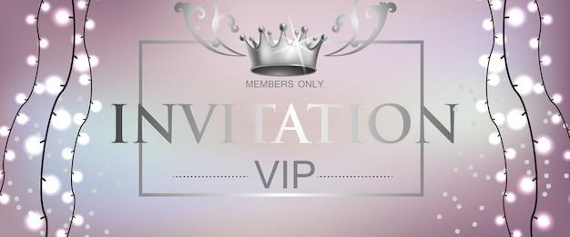 Vip-приглашение с легкой гирляндой