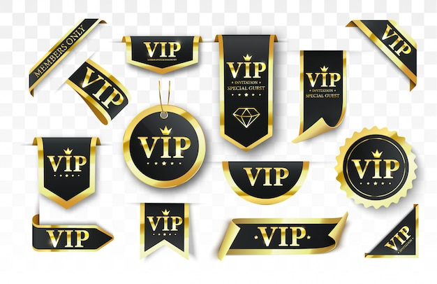 Vip label, badge or tag.