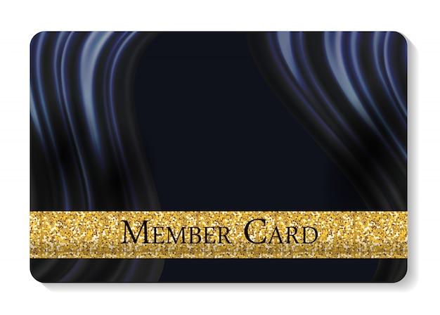 Vip members card illustration