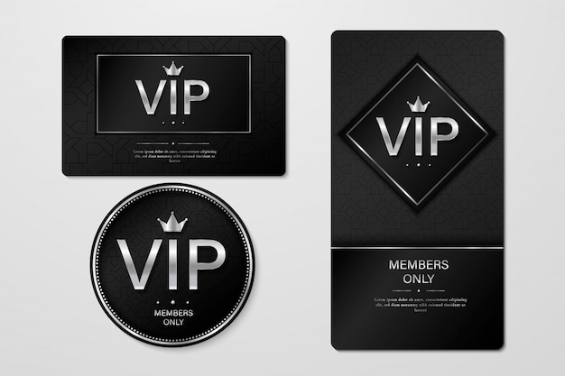 Vip party premium invitation cards