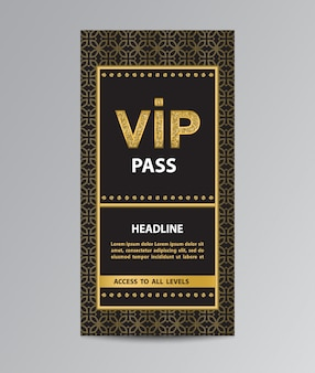 Vip pass admission template