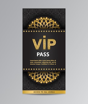 Vip pass flyer template