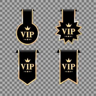 Vip quality badges on transparent background