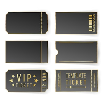 Vip ticket template set