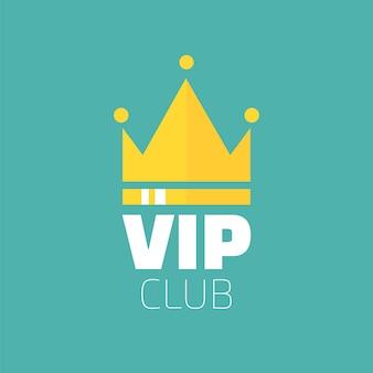 Vip клуб логотип в плоском стиле. баннер только для членов vip клуба