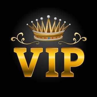 Vip with crown composition
