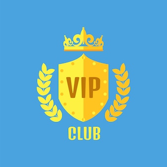 フラットスタイルのvipクラブのロゴ