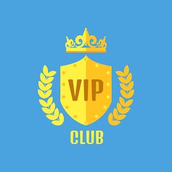 Vip клуб логотип в плоском стиле