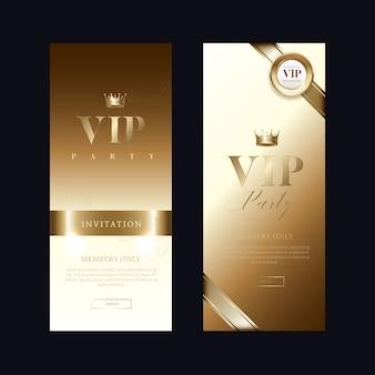 豪華なvipの招待状とクーポンの背景