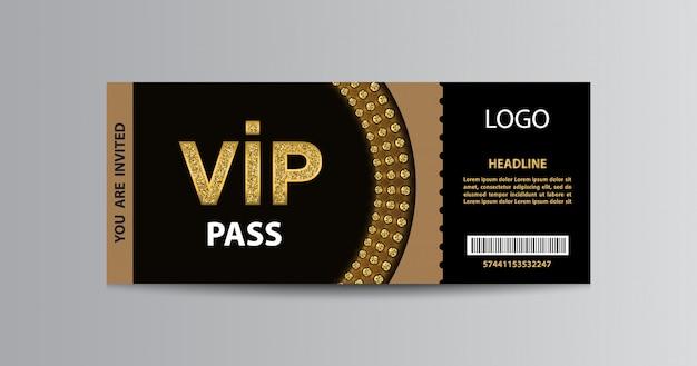 Шаблон входного билета vip