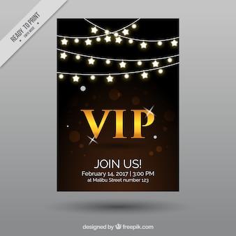 Vip плакат со звездами гирляндой