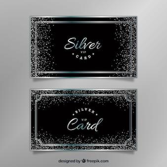 レトロスタイルのシルバーのvipカード
