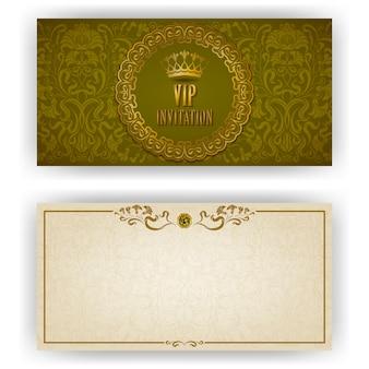 Vip高級招待状のエレガントなテンプレート
