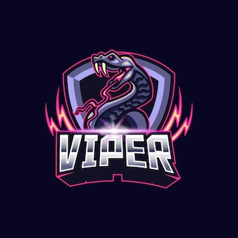 Логотип viper киберспорт талисман игры