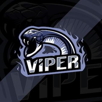 Логотип талисмана гадюки киберспорт