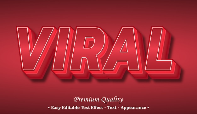 Viral 3d font style effect