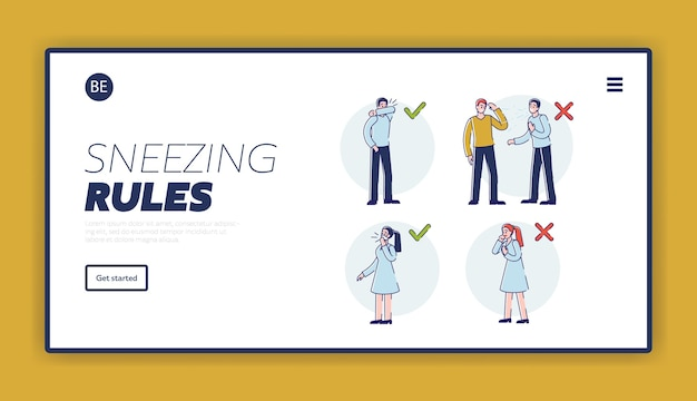Viral infection protection rules how to sneeze correctly