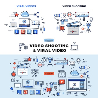 Viral video and video shooting information page