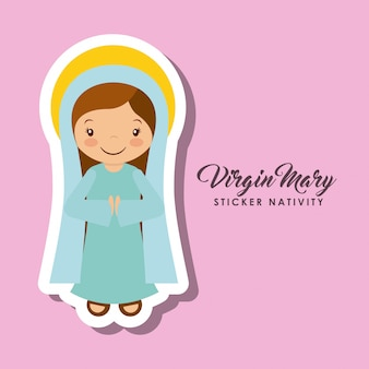 Virgen mary sticker