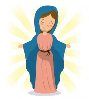 Virgin mary holiness divine image