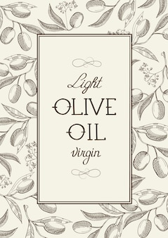 Virgin olive vintage label
