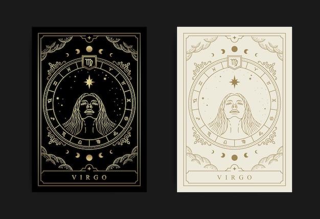 Virgo horoscope and zodiac symbol