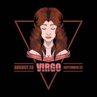 Virgo zodiac ilustration