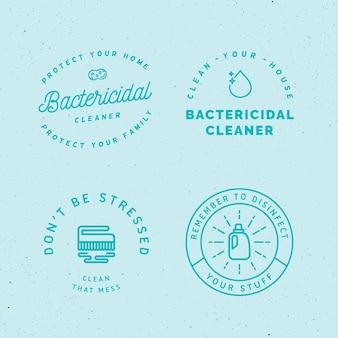 Вирицидные и бактерицидные чистящие этикетки