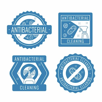 Viricidal and bactericidal cleaner labels