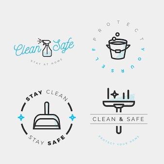 Etichette detergenti viricide e battericide