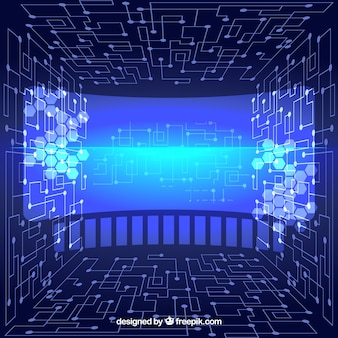 Virtual abstract technological background